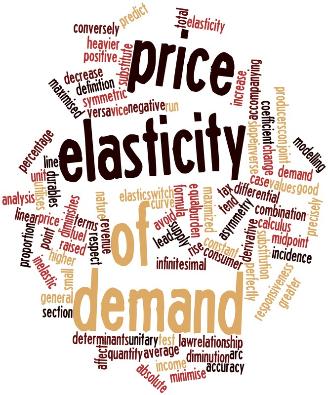price elasticity Calculated by dividing the percentage change in quantity demanded by the  percentage change in price the price elasticity of demand shows how an  increase in.
